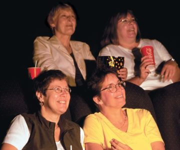 Monday Night At The Movies Committee: (Front) Brenda Stephen And Jan Smith-Bull, (Back) Brenda Koechlin and Susan Clelland. The Fifth Member, Franca Deangelis, was not present.