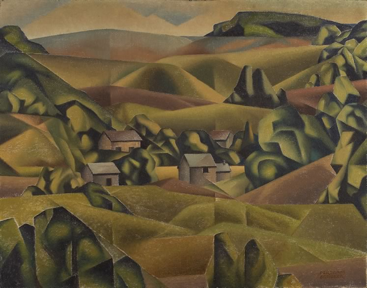 'Caledon Hills' (c.1935) by Bertram Brooker. Oil on canvas. On loan from the Art Gallery of Ontario, Toronto. Purchase, Estate of Mrs. Helen Richardson Stearns, 1972.