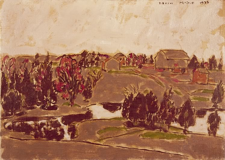 'The Maple Blooms on Hiram's Farm, Palgrave' (c.1933) by David Milne. Oil on canvas, 50.8 x 71.1 cm. On loan from Museum London. Gift of the Douglas M. Duncan Collection, 1970.