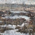 "Jim Reid ~ Mer Bleue Bog, detail, acrylic on plywood 120"" x 72"""