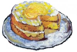 Lemon Curd Cake. Illustration by Shelagh Armstrong.