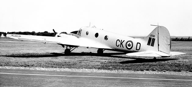 The Canadian-made Avro Anson as used almost exclusively for training during the World War II. Photo Courtesy Canada Aviation Museum Ottawa.