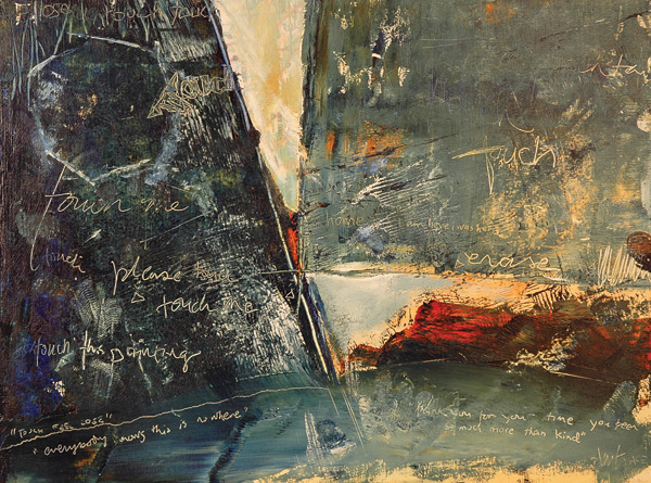 """Andrea Trace The Fault Line Series, Two acrylic on masonite, 24"""" x 16"""""""