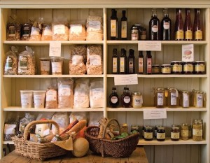 Shelves are chock full of jams, grains, breads and much more produced within 100 miles of Creemore. Photo by MK Lynde.