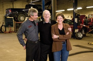 from left : Mark, Bob and Terri Erskine. Photo by Pete Paterson.