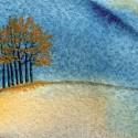 "Margi Taylor Self ~ Fall Trees 14"" x 12"""