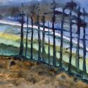 "Margi Taylor Self ~ Windswept Pines 24"" x 20"""