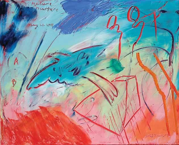 """Jim Stewart ~ Nature Nurture, 2009, 26"""" x 32"""" oil on canvas"""