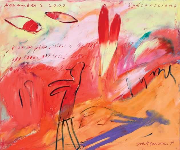 """Jim Stewart ~ Subconscious, 2009, 20"""" x 24"""" oil on canvas"""