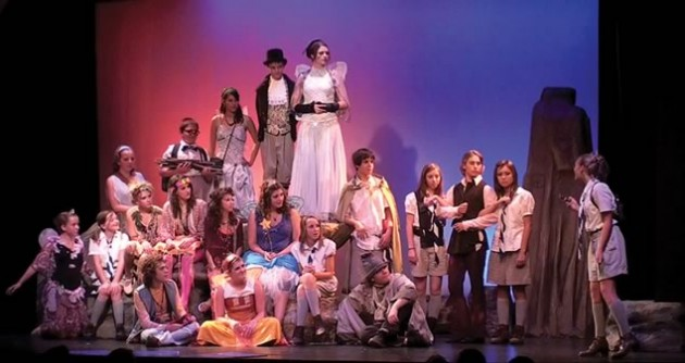Peter Pan full cast finale. Photo courtesy of Theatre Orangeville.