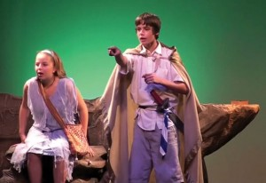 Peter Pan and Fae. Photo courtesy of Theatre Orangeville.