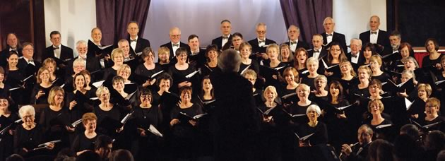 A. Dale Wood conducts the Achill Choral Society.