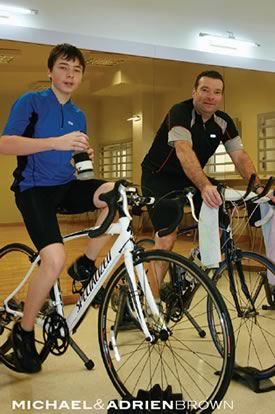 Father and son, Michael and Adrien, have become C3 training buddies.