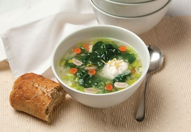 Spinach and wild leeks cold soup
