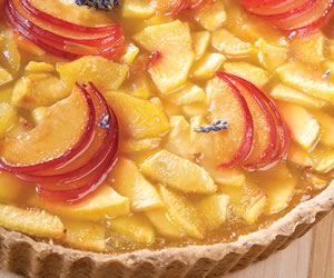 Peach-Plum Shortbread Tart