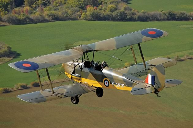 World War II Tiger Moth biplane