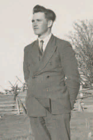 Mark Nelson as a young man. He was born in the miller's house at Sheldon Creek. He purchased a stone house on the adjoining acreage. The family sold the property shortly after the mill burned down in 1963.