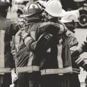 The brotherhood that bonds firefighters worldwide. Photo by Brandon Muir