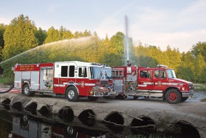 Pumps 34 and 32 on a practice exercise. Photo by Brandon Muir