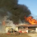 Orangeville fire crews respond to a garage fire. Photo by Brandon Muir
