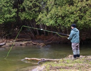Avid fly-fisherman Rob Krueger frequents the Pine River