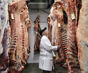 """Linda Pease, president of Stayner Meat Packers: """"People want to be safe. We understand that."""" Photo by Trina Berlo"""