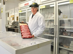 Pease in Stayner Meat Packer's retail outlet, Twelve Farms Butcher Shop. Photo by Trina Berlow