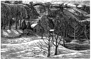 At the Dingle Schoolhouse, in the shelter of the escarpment, wood engraver Rosemary Kilbourn has found a lifetime of inspiration.