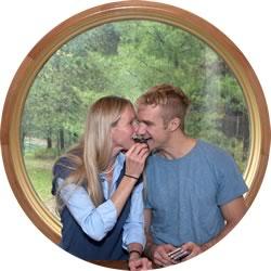 Bridgitte Longshore and her partner Mark Handy