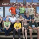 Summer 2011 at the Canoe North Adventures Outfitting Centre in Norman Wells, nwt. back row left to right : Ron Jasiuk, Donald Grant, Al Pace, Warren Wright, Harry Feinig. centre row : Susan Casson, Shar Robertson, Laurie Smith, Matt Casson, Taylor Pace, Peter Scott. front row : Jim Robertson, Lin Ward, Laurie McGaw, Bethany Lee, Cedar Jasiuk, Ann Voyame