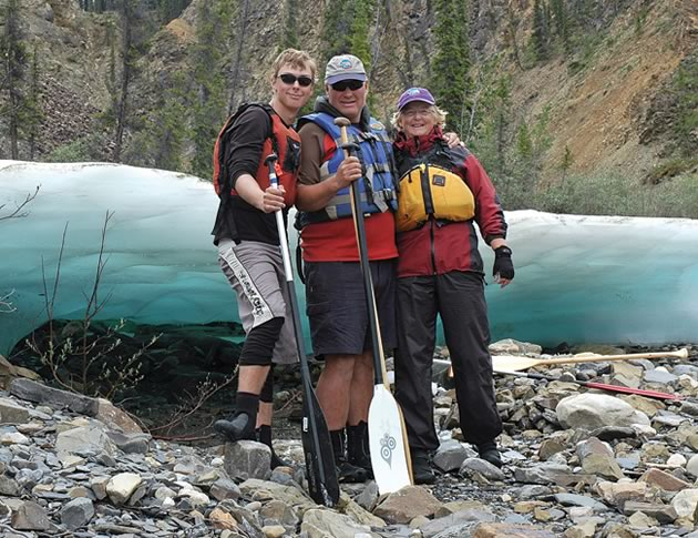 Taylor Pace, Al Pace and Lin Ward of Hockley Valley operate Canoe North Adventures.