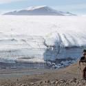 Cory in the fi eld at Henrietta Nesmith Glacier.