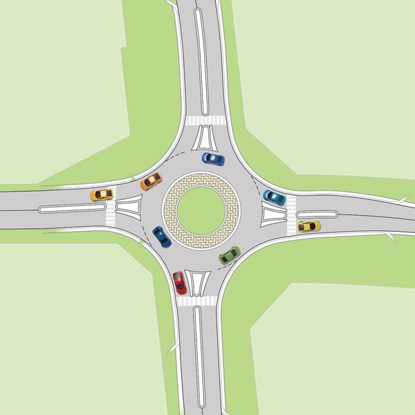 Peel's first roundabout at Dixie