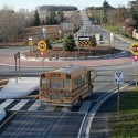 Early morning at Caledon's roundabout.