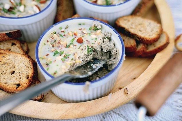 Mushroom and Ice Cider Pâté, catered by Spirit Tree Estate Cidery. Photos by Stephanie Ouellette and and Stine Danielle.