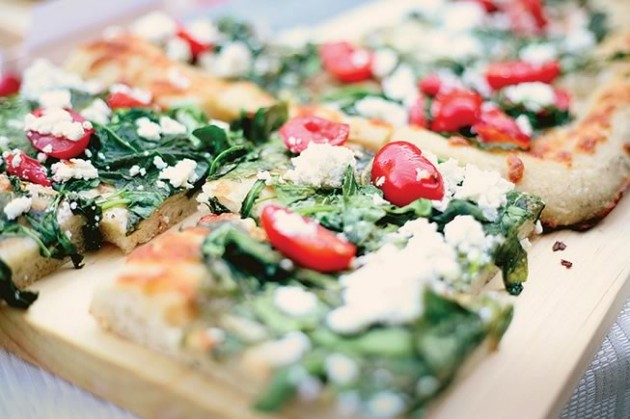 Summer Italian Pizza, catered by Spirit Tree Estate Cidery. Photos by Stephanie Ouellette and and Stine Danielle.
