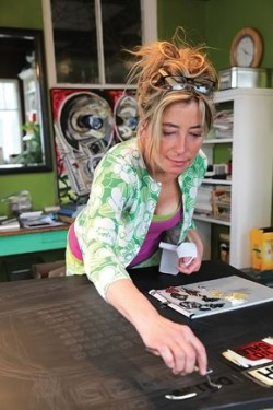Julia Gilmore is featured as our Artist in Residence for the Summer 2012 issue. Photo By Pam Purves.