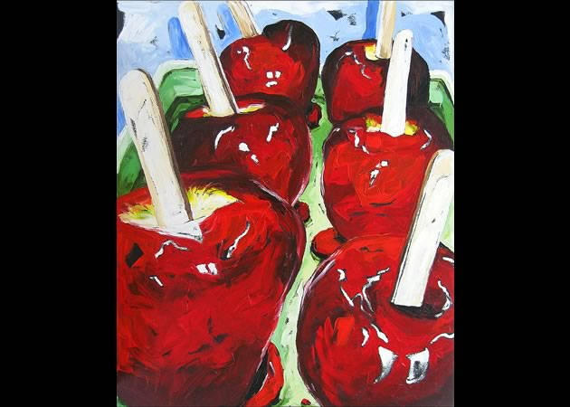 """Julia Gilmore ~ Candy Apples 36"""" x 30"""""""