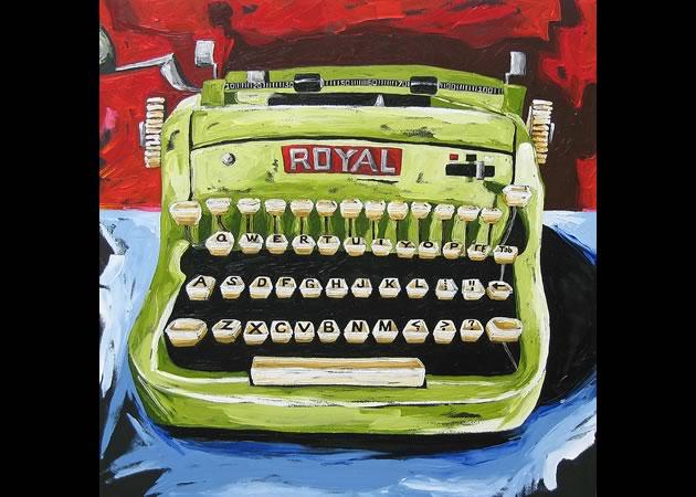 """Julia Gilmore ~ Royal Typewriter 36"""" x 36"""""""