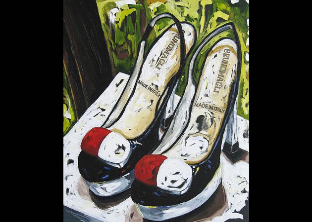 "Julia Gilmore ~ Italian Shoes 36"" x 30"""
