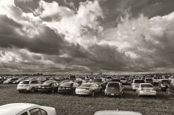 Foodstock, John Church Orangeville photographer John Church has been inspired by the scale and beauty of Melancthon farmland, though in this photo it was the drama of the sky and volume of cars at Foodstock that caught his attention.