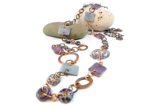 Beth Grant, lampwork beads / Sassafras Artistic Designs, jewellery ~ Union Rope