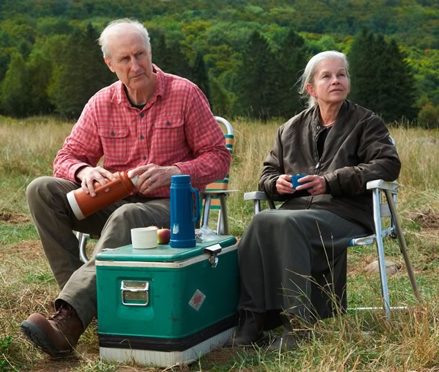 James Cromwell and Geneviève Bujold star in Still. McGowan found the celebrated veteran actors both a challenge and a pleasure to direct. Photo by Ken Woroner.