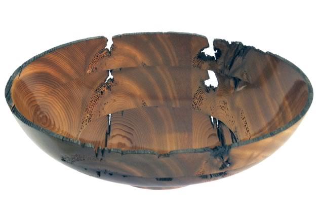Sunrise recycled cedar dockwood bowl