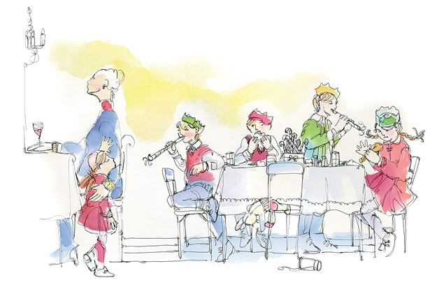 """In my family, it was simply known as """"The Kids' Table."""" Illustration by Shelagh Armstrong."""