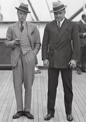 The Prince of Wales (left) and Edward W Beatty on the deck of the Empress of France, October 13, 1923. Canadian Pacific Archives NS11234.