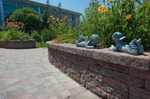 The flower beds at Jesse's Sensory Garden at the Caledon Centre in Bolton (below) are raised to wheelchair height. The garden provides a safe, barrier-free place for all ages and abilities. Photo by Rosemary Hasner / Black Dog Creative Arts.