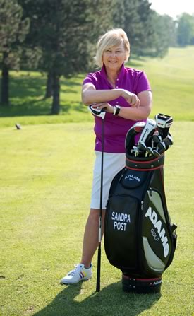 Sandra Post, the first Canadian woman to break into the ranks of the top pros, now runs a golf school out of Glen Eagle Golf Club north of Bolton. Photo by Pete Paterson.