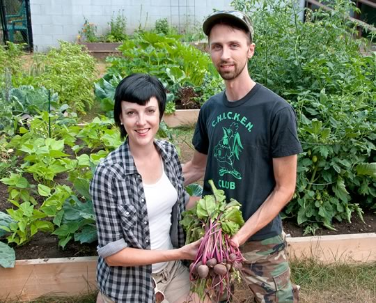 Amanda and Owen Vulpe have dubbed their backyard vegetable garden 'the great experiment.'