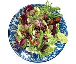 Radish-Radicchio Salad with Caper Vinaigrette